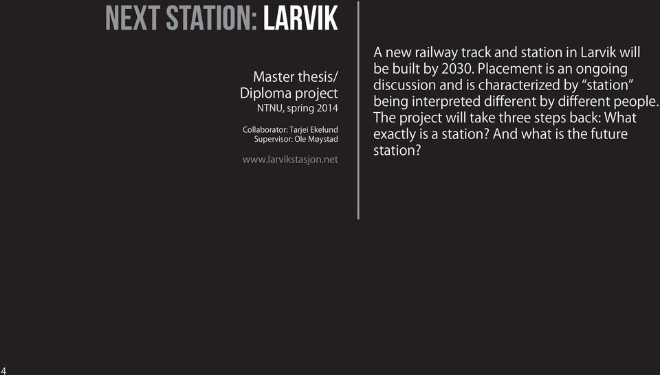 net A new railway track and station in Larvik will be built by 2030.