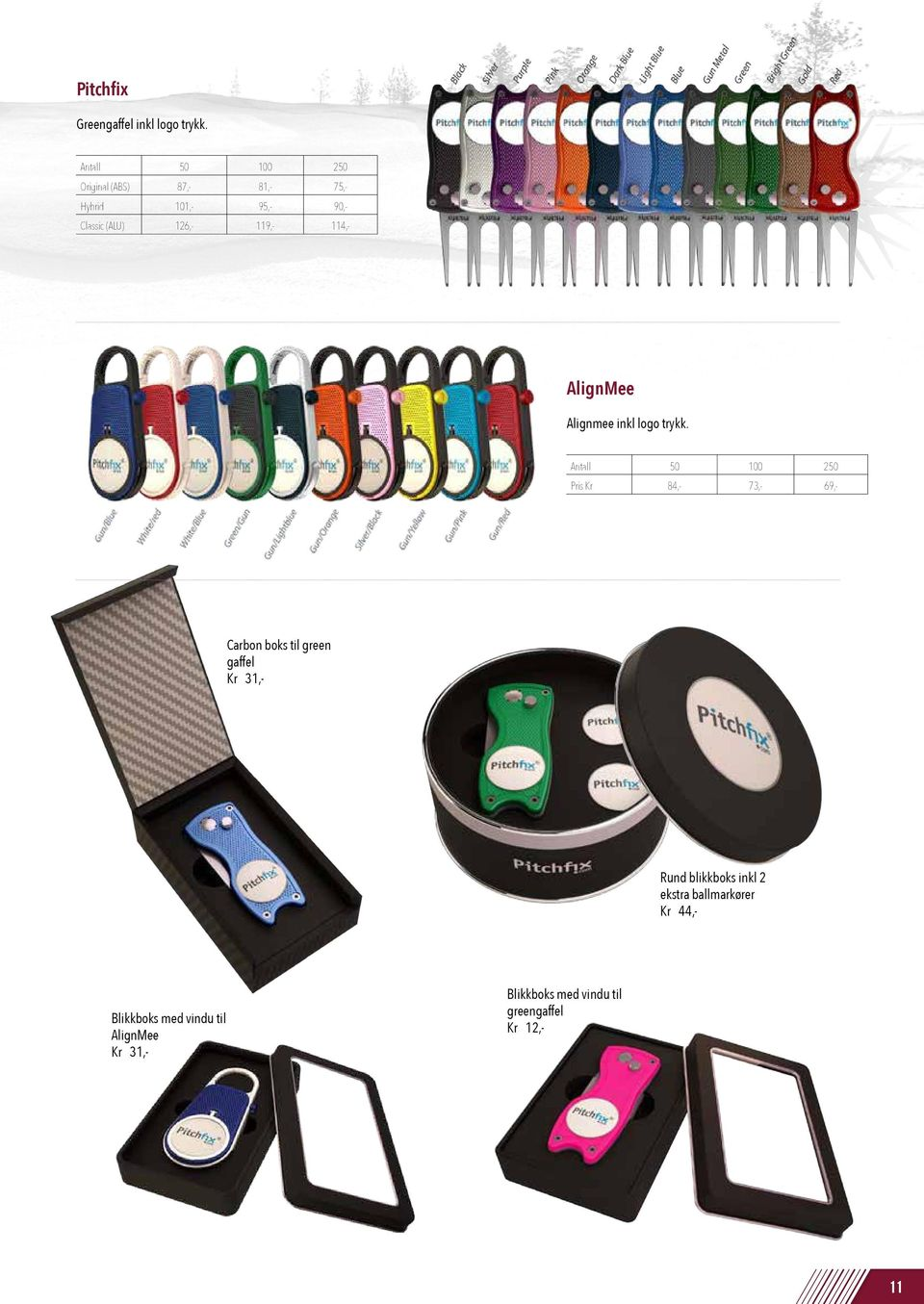 Removable magnetic custom ball marker. Packaging No holes in your pocket anymore. Tin box with clear lid Free sample available with your customers logo. Superb quality.
