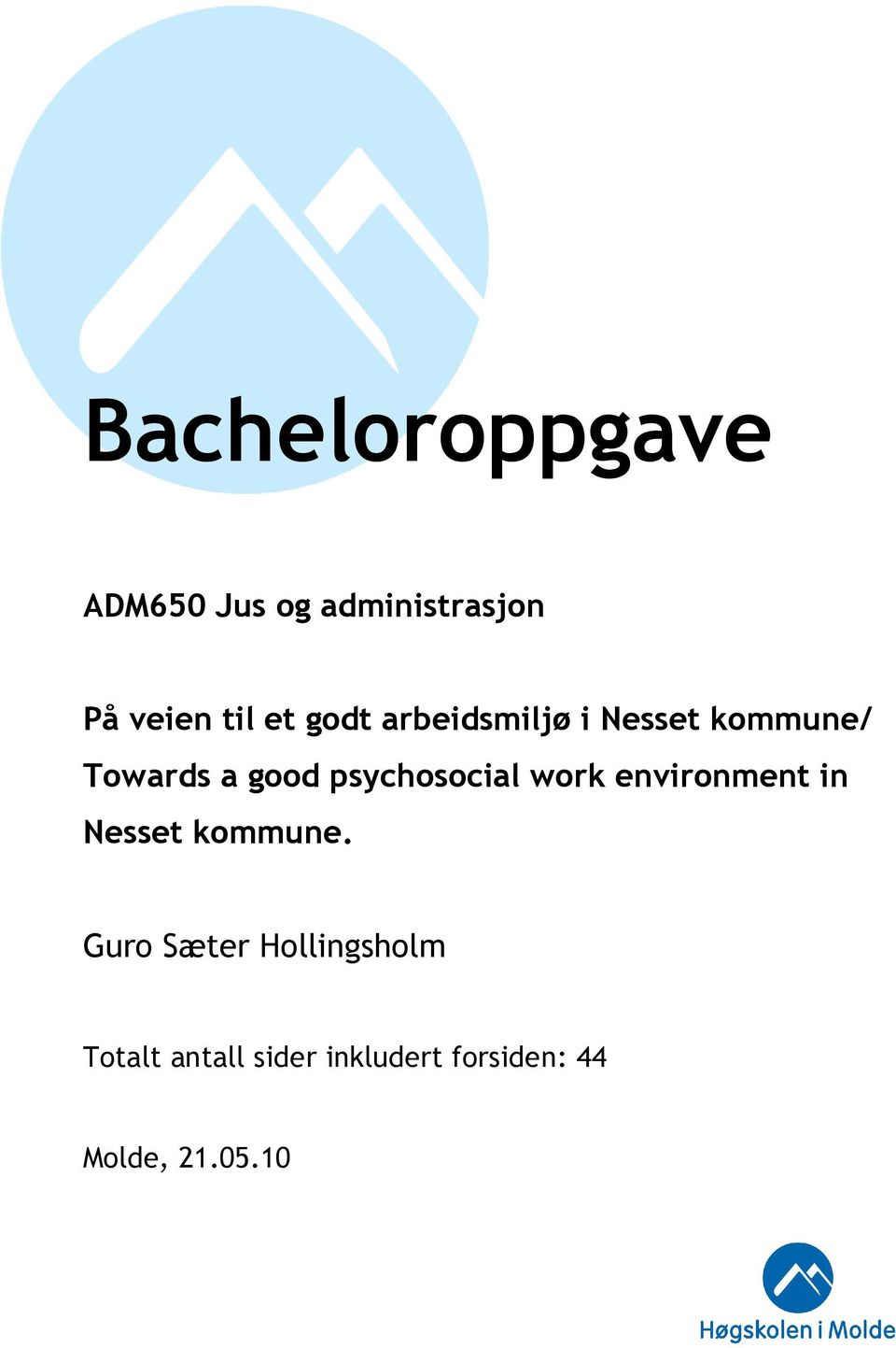 psychosocial work environment in Nesset kommune.