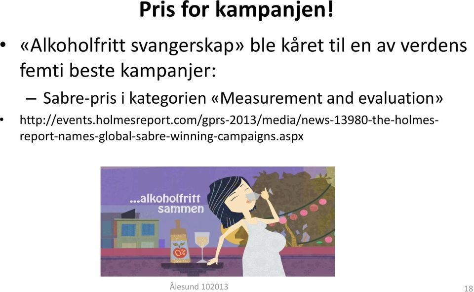 kampanjer: Sabre-pris i kategorien «Measurement and evaluation»