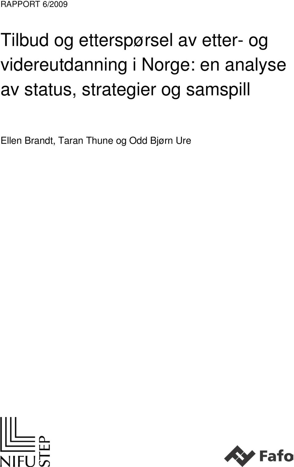 analyse av status, strategier og