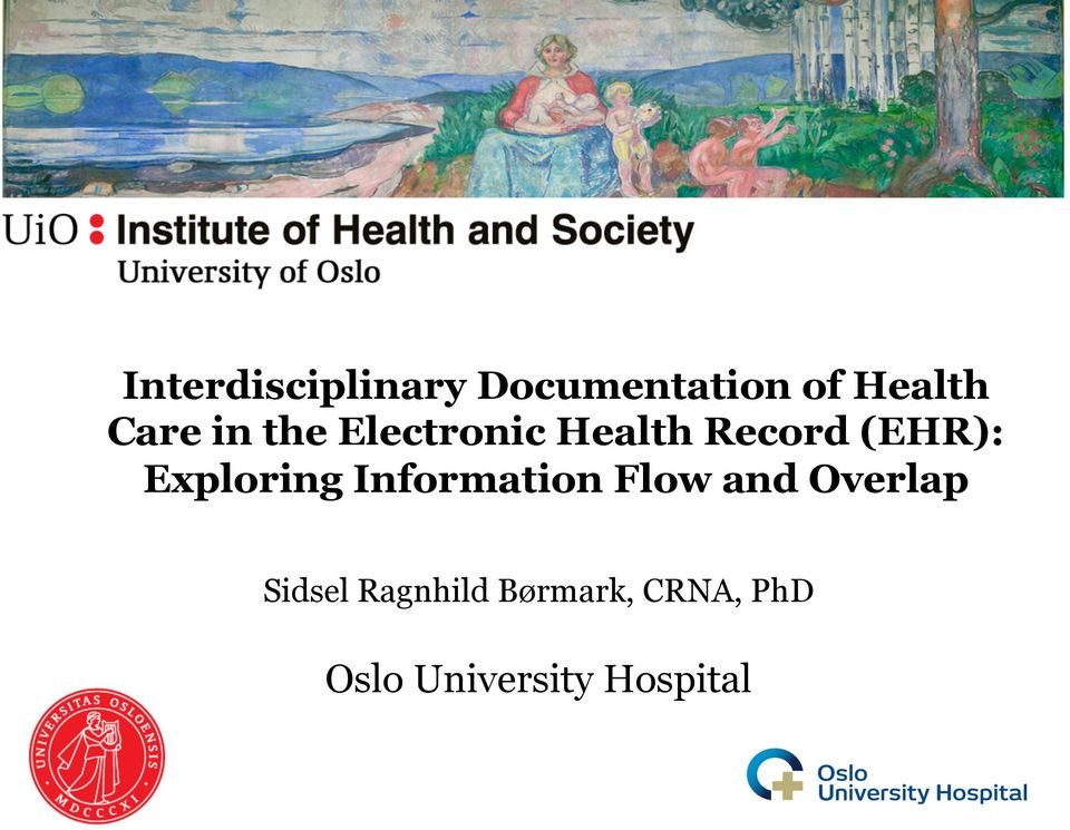 Exploring Information Flow and Overlap Sidsel
