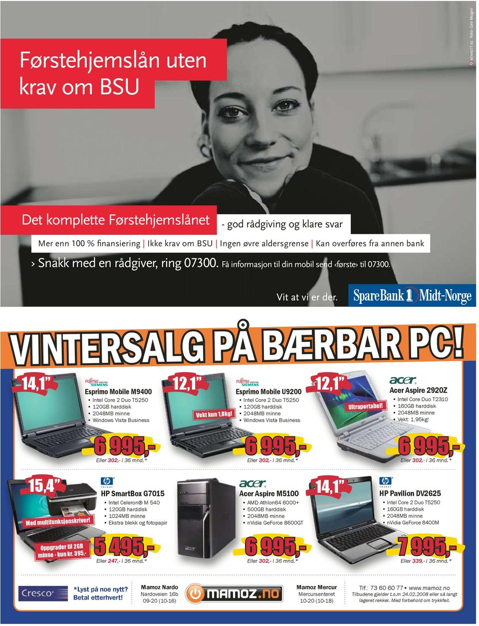 VINTERSALG PÅ BÆRBAR PC! Esprimo Mobile U9200 Intel Core 2 Duo T5250 120GB harddisk 2048MB minne Windows Vista Business 12,1 Ultraportabel!