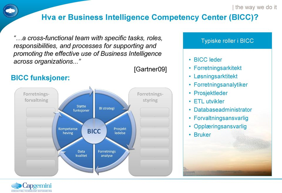 effective use of Business Intelligence across organizations.