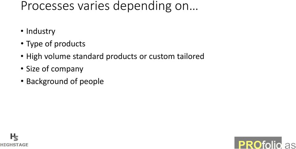 volume standard products or custom