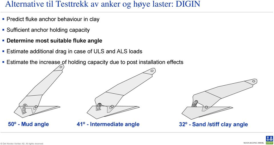 additional drag in case of ULS and ALS loads Estimate the increase of holding capacity due