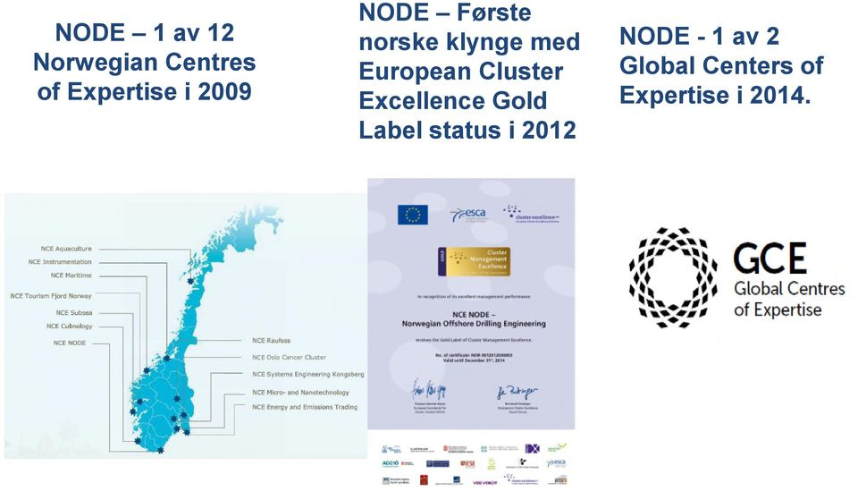 Cluster Excellence Gold Label status i 2012