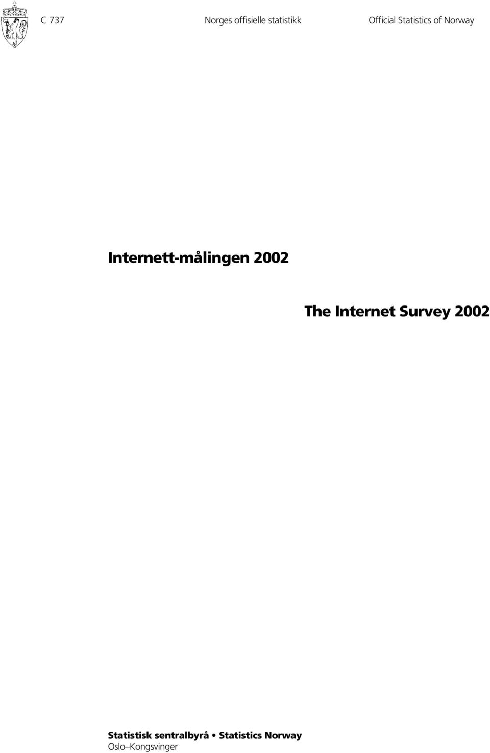 Internett-målingen 2002 The Internet