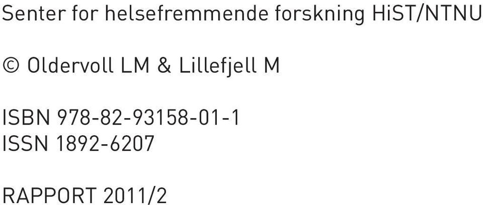LM & Lillefjell M ISBN