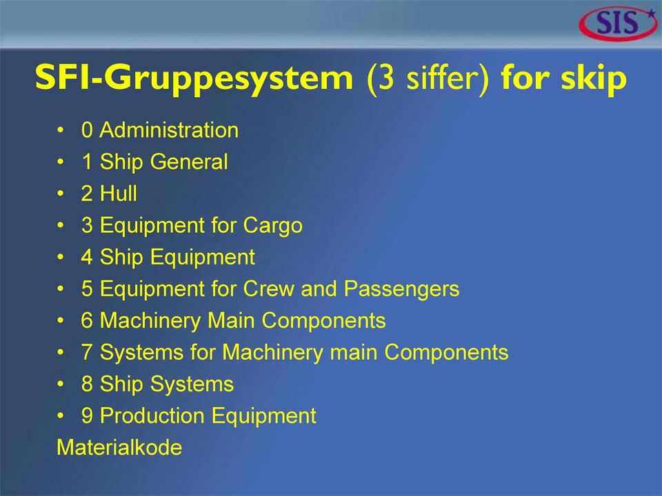 for Crew and Passengers 6 Machinery Main Components 7 Systems for