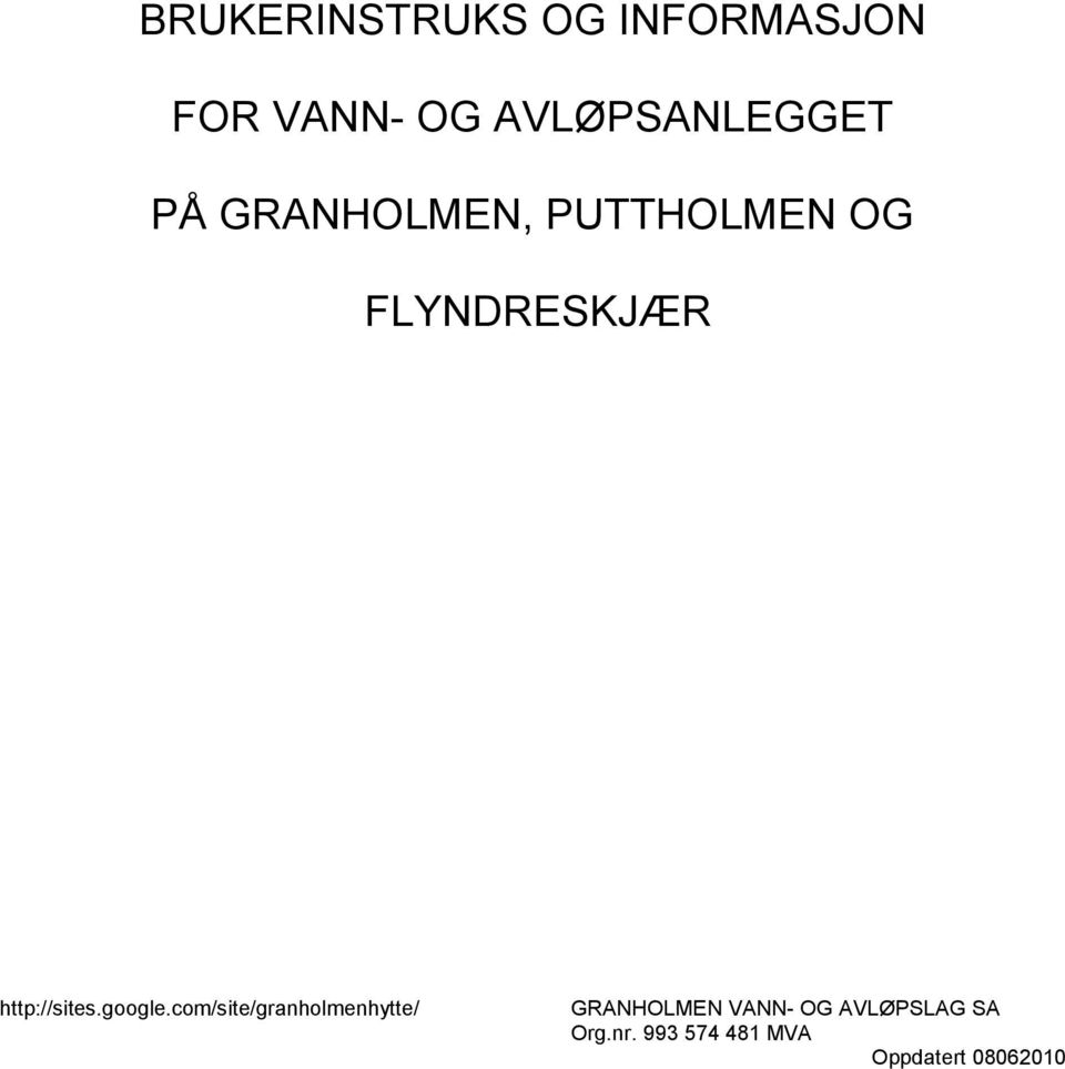 FLYNDRESKJÆR http://sites.google.