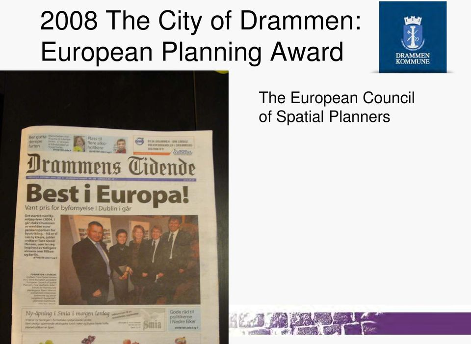 Planning Award The
