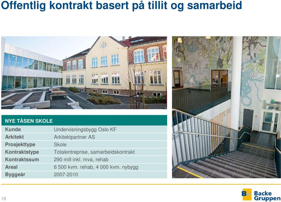 Undervisningsbygg Oslo KF Arkitektpartner AS Skole Totalentreprise,