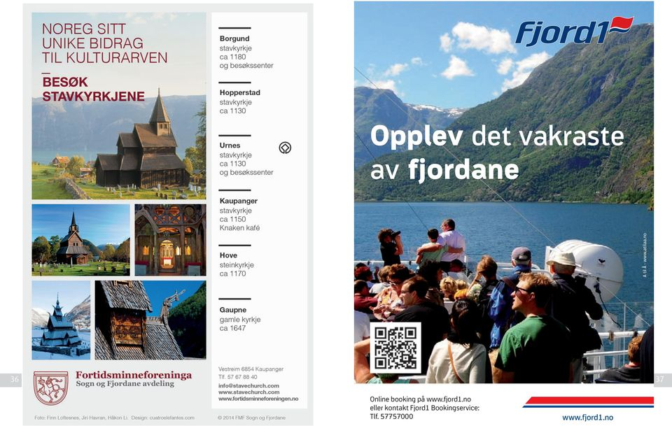 no 36 37 Online booking på www.fjord1.