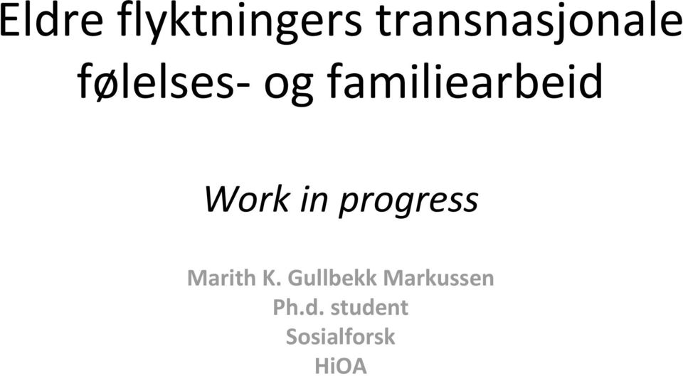 progress Marith K.