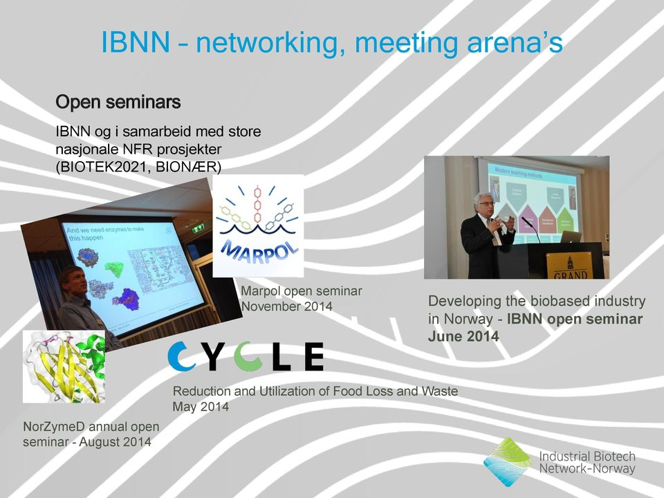 Developing the biobased industry in Norway - IBNN open seminar June 2014 NorZymeD