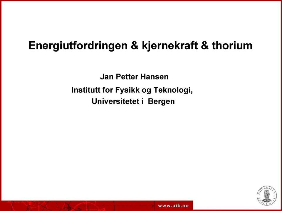Petter Hansen Institutt for