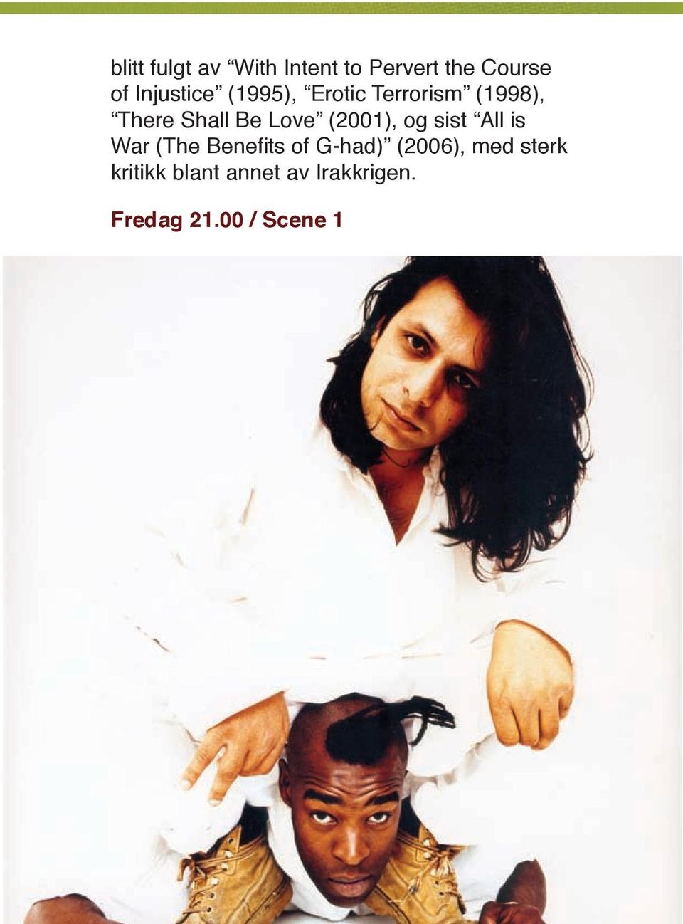 Love (2001), og sist All is War (The Benefits of G-had)