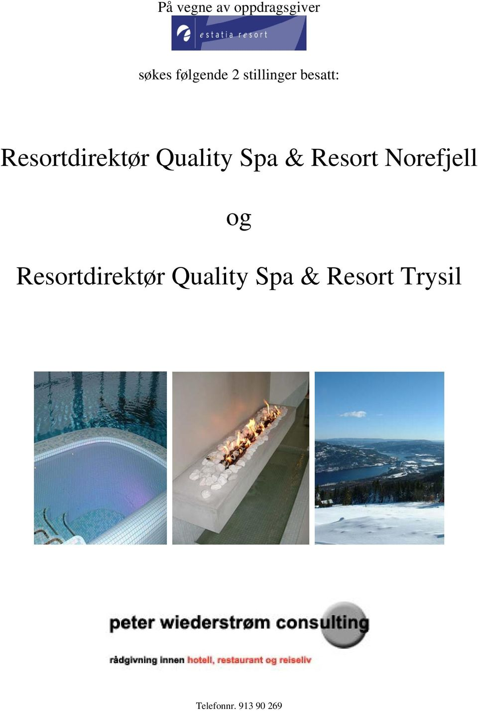 Spa & Resort Norefjell og Resortdirektør