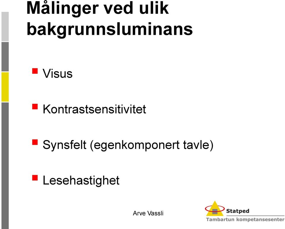 Kontrastsensitivitet