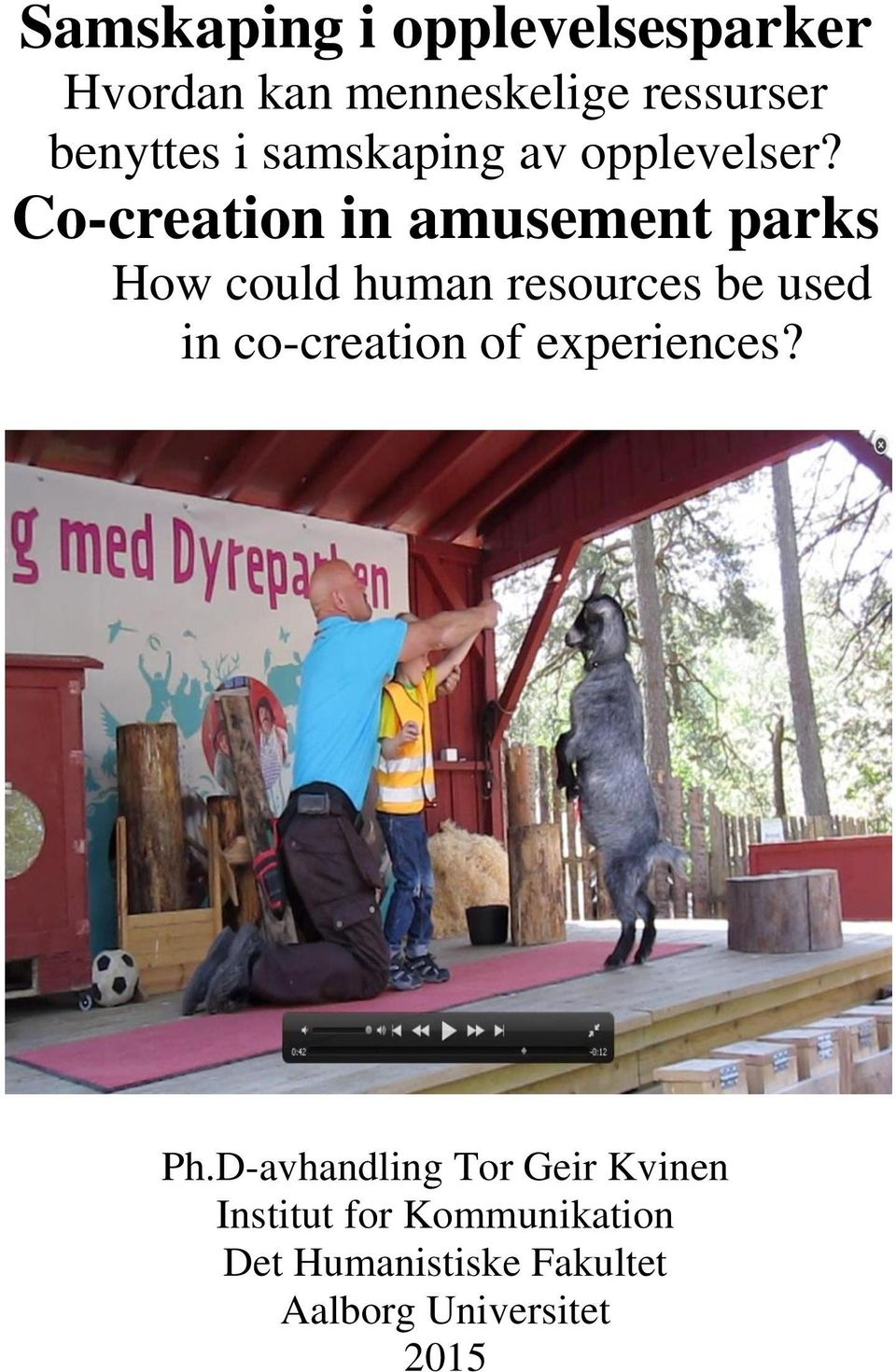 Co-creation in amusement parks How could human resources be used in