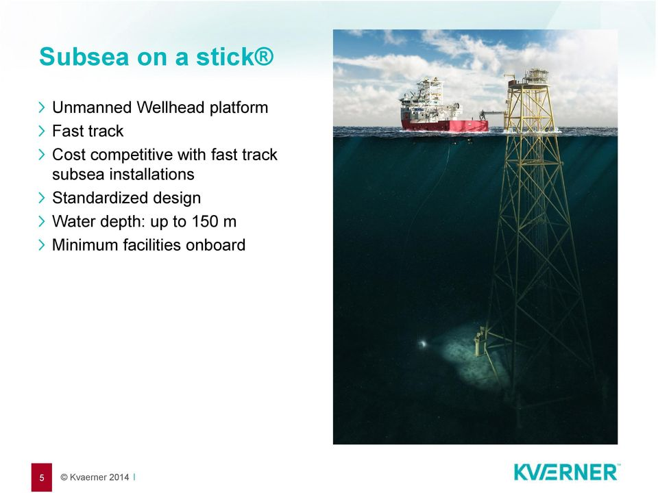 subsea installations Standardized design