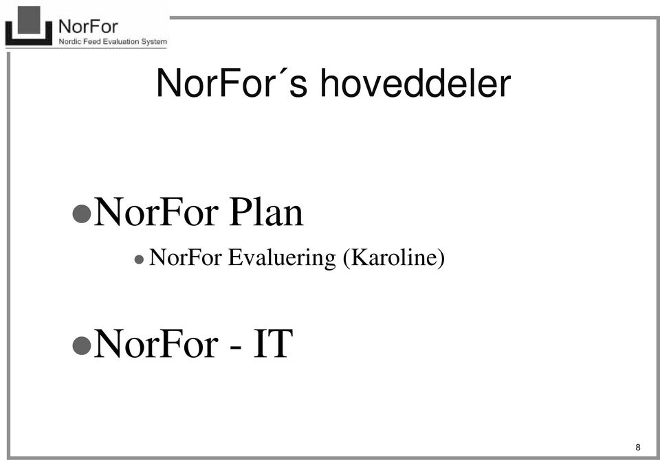 Plan NorFor