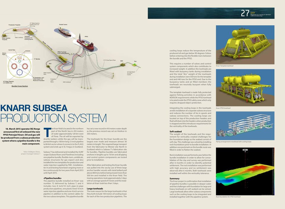 Oil and gas will be produced from a subsea production system where a pipeline bundle is the main component.