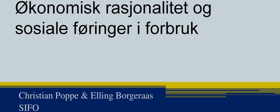 forbruk Christian