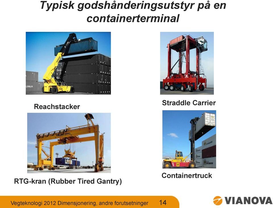 Carrier RTG-kran (Rubber Tired Gantry)