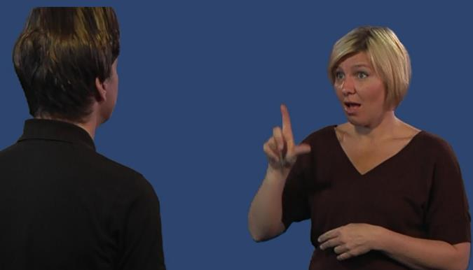 Tests in Norwegian sign language DVD with sample tests for the
