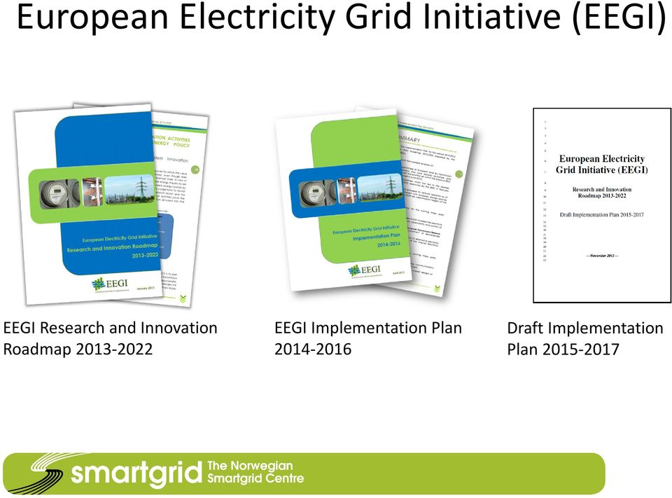 Roadmap 2013-2022 EEGI Implementation