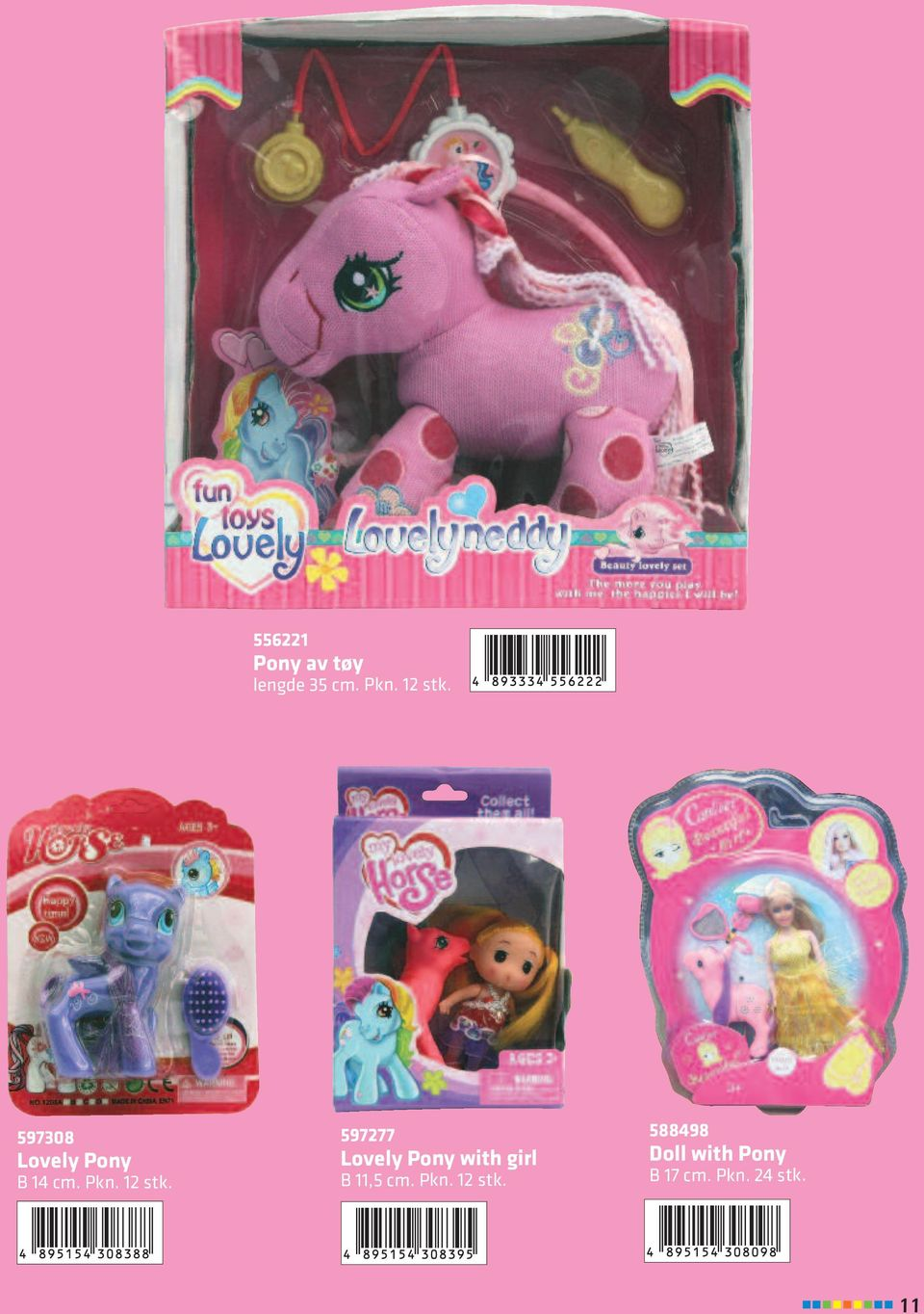 597277 Lovely Pony with girl B 11,5 cm.