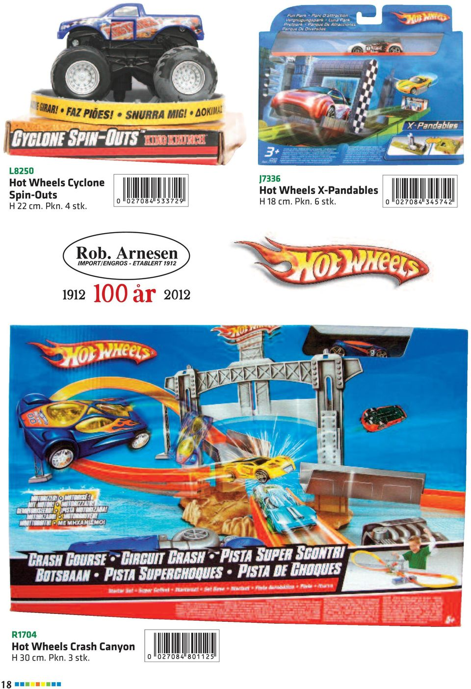 J7336 Hot Wheels X-Pandables H 18 cm. Pkn.