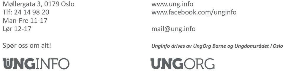 ung.info www.facebook.com/unginfo mail@ung.