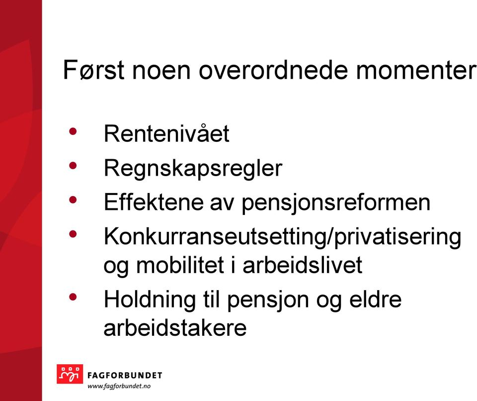 Konkurranseutsetting/privatisering og mobilitet