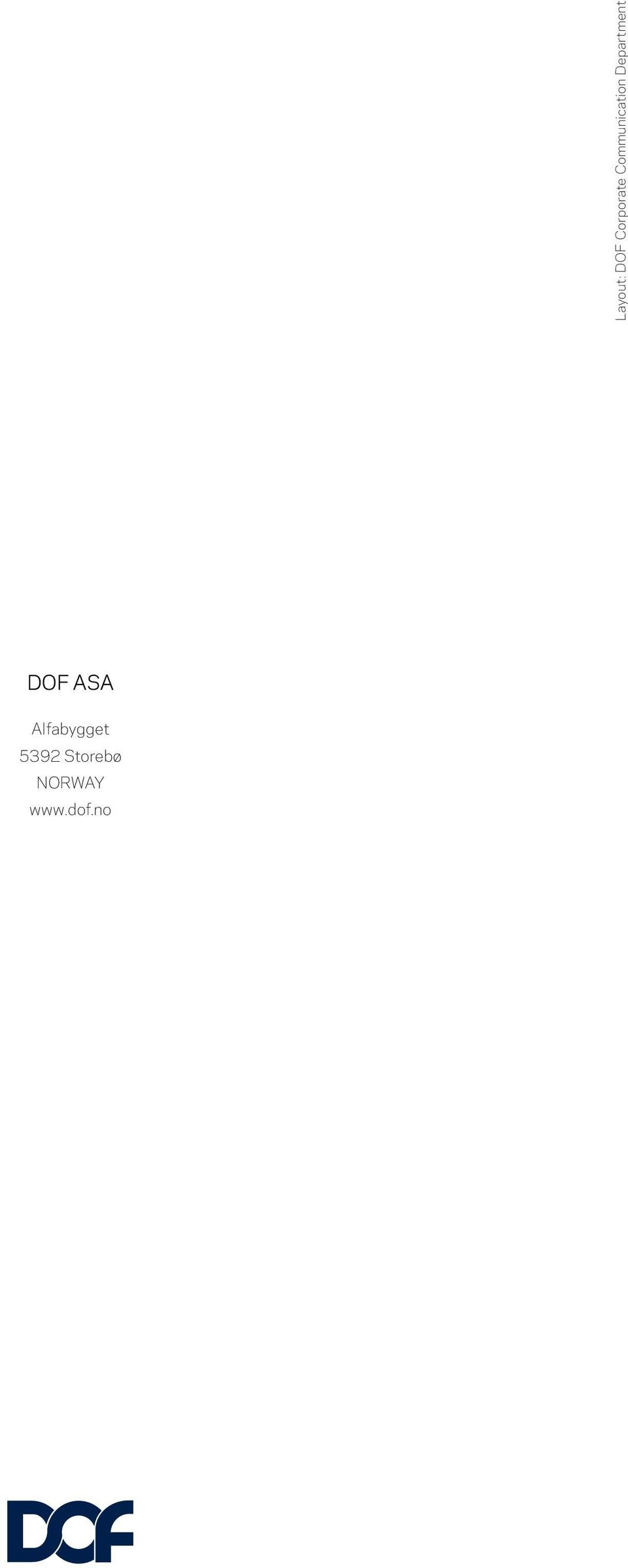 Department DOF ASA
