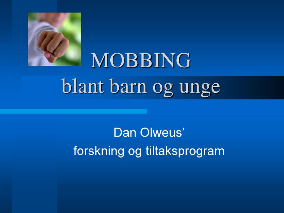 Olweus forskning