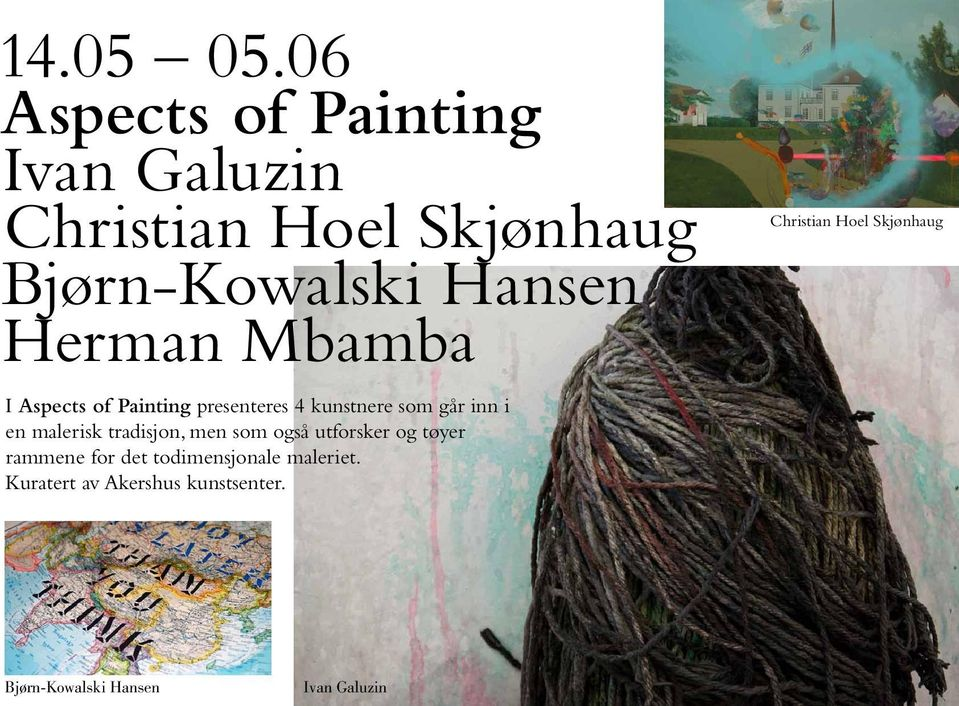 Herman Mbamba I Aspects of Painting presenteres 4 kunstnere som går inn i en malerisk