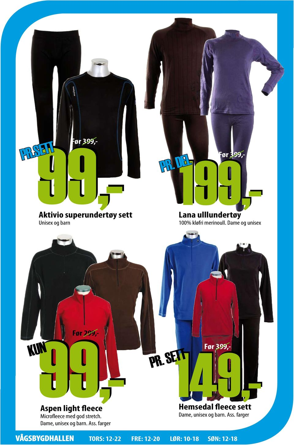 DEL Før 2 Aspen light fleece Microfleece med god stretch.