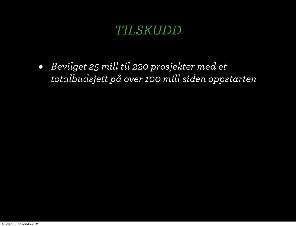 totalbudsjett på over 100 mill