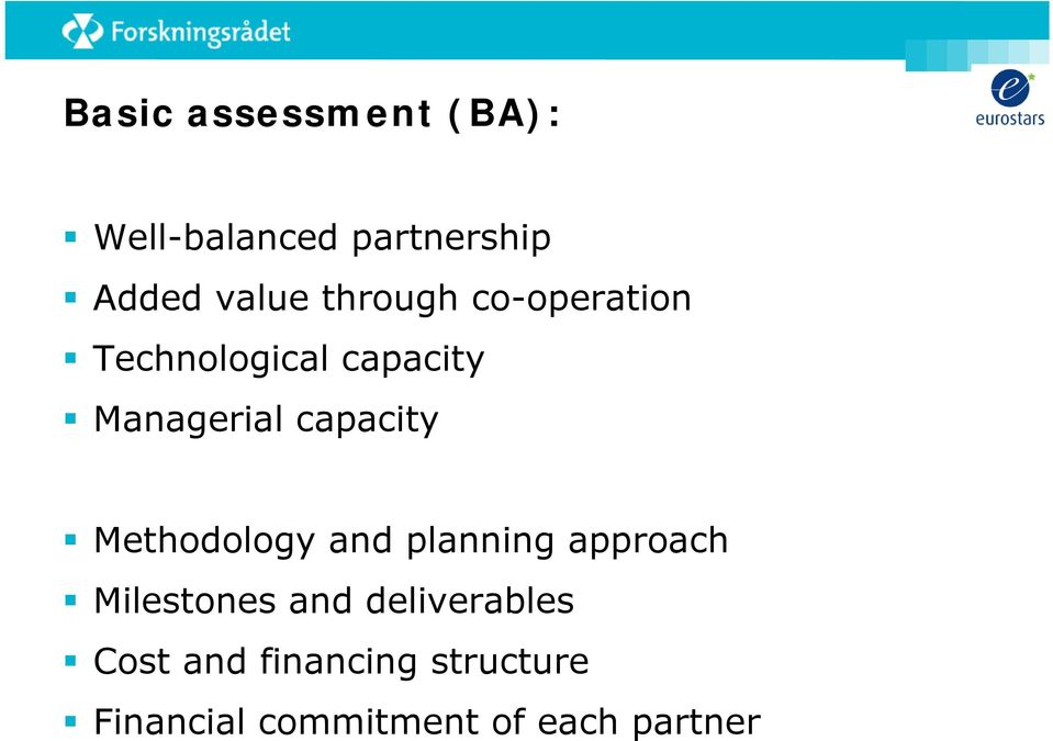 capacity Methodology and planning approach Milestones and