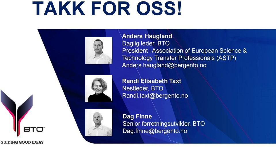 Science & Technology Transfer Professionals (ASTP) Anders.