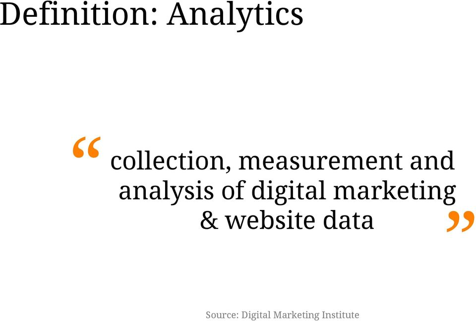analysis of digital marketing &