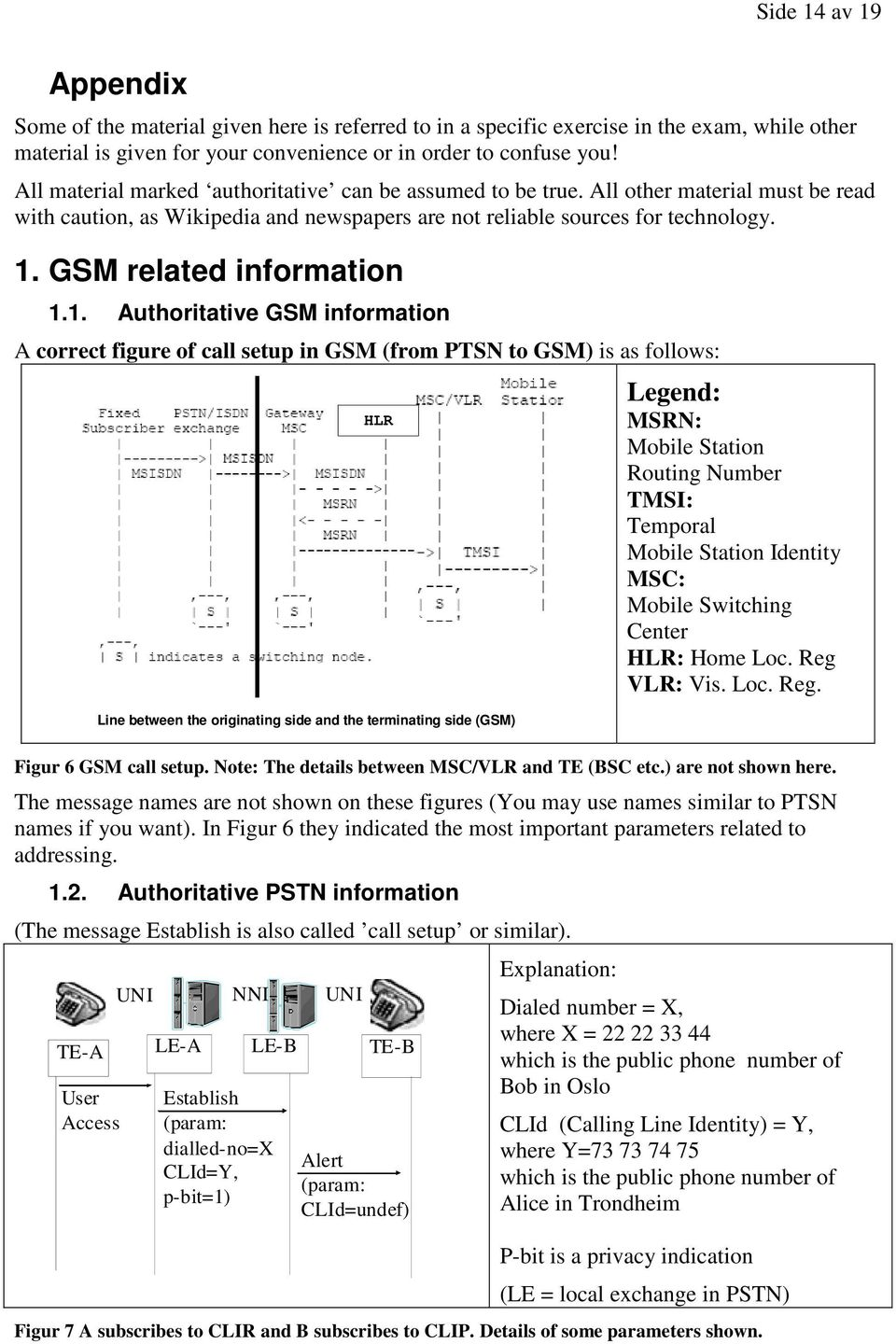 11 Authoritative GSM information A correct figure of call setup in GSM (from PTSN to GSM) is as follows: HLR Line between the originating side and the terminating side (GSM) Legend: MSRN: Mobile