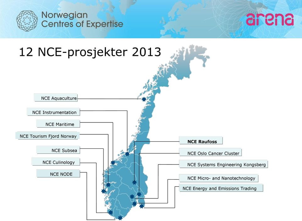 NODE NCE Raufoss NCE Oslo Cancer Cluster NCE Systems Engineering