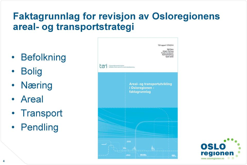 transportstrategi Befolkning