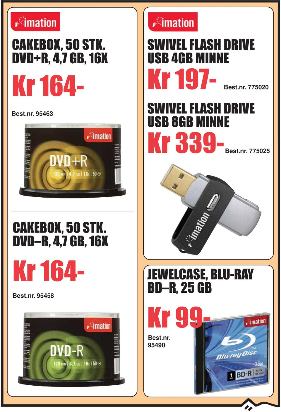 MINNE Kr 197-775020 SWIVEL FLASH DRIVE USB 8GB MINNE Kr
