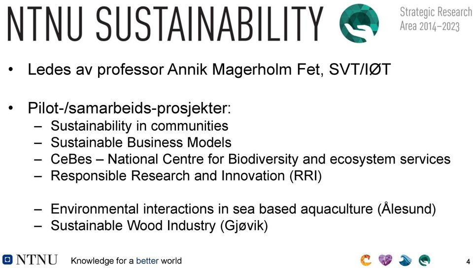 Biodiversity and ecosystem services Responsible Research and Innovation (RRI) Environmental