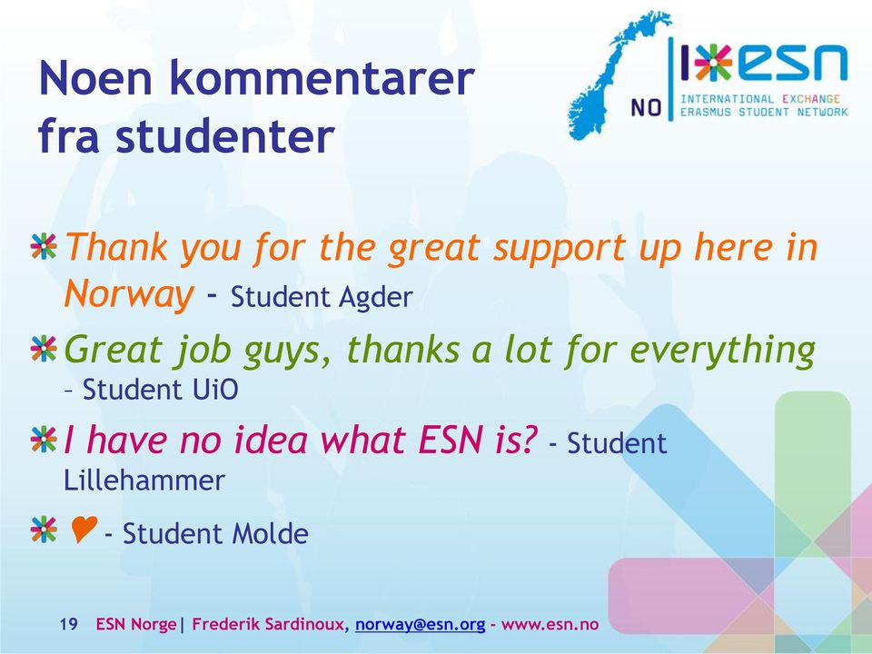 everything Student UiO I have no idea what ESN is?
